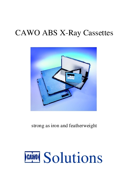 CAWO ABS XRay Cassettesstrong as iron and featherweight