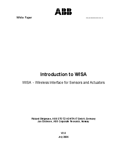 White Paper  WhitePaper Introduction to WISA V2doc 6  GSIntroduction