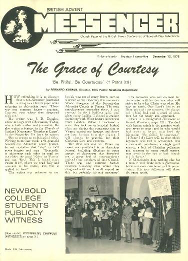 BRITISH ADVENT Church Paper of the British Union Conference of Seventh