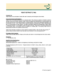 PI  Rev  May  YEAST EXTRACT  Intended Use Yeast Extrac