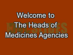 Welcome to The Heads of Medicines Agencies