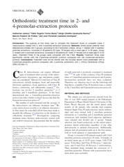 ORIGINAL ARTICLE Orthodontic treatment time in  and pr