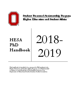 This handbook is intended to be a resource for