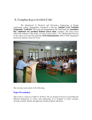 Complete Report On EXULT K The Department of Electrica