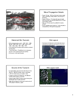 The Great Hilo Tsunami of Presented by Craig McClarren