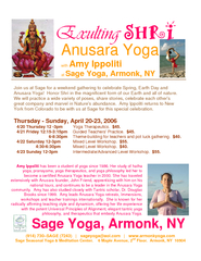 Anusara Yoga with Amy Ippoliti at Sage Yoga Armonk NY