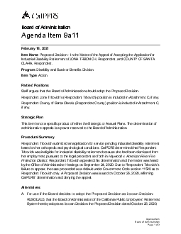 x0000x0000Agenda Item Board of AdministrationPage of Board of Administ