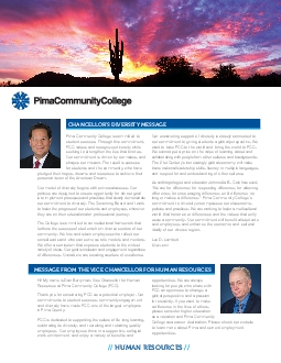Pima Community College is committed to
