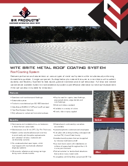 Restores performance characteristics on various types of metal roof sy