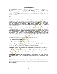 FACILITY AGREEMENT THIS AGREEMENT IS MADE at the plac