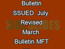 Ministry of Finance Tax Bulletin SSUED  July  Revised March  Bulletin MFT CT  gov PowerPoint PPT Presentation