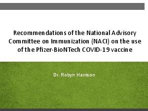 Recommendations of the National Advisory Committee on Immunization NAC