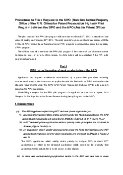 Procedures to File a Request to the SIPO State Intellectual Property O
