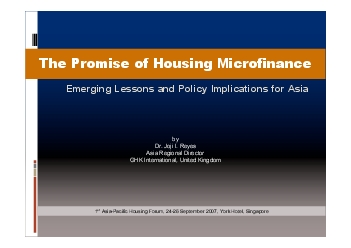 microenterprise finance itoffers the promise of sustainable unleverage