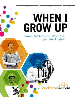 Career Lessons and Activities for Grades 912