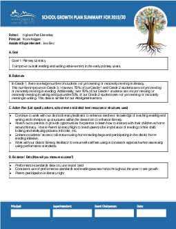 260H0020069 C Action Plan List specific actions school level and