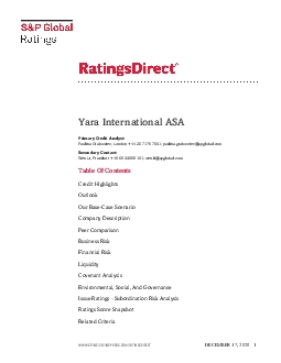 STANDARD  POORS SP and RATINGSDIRECT are registered trademarks of Stan