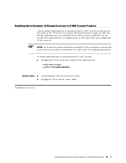Enabling Advertisement of Named Services in PADO Control PacketsYou ca