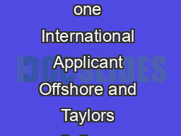 Faculty of Veterinary Science Commitment Statement Category please tick one International Applicant Offshore and Taylors College Applicants International Applicant applying through UAC Domestic Recent PowerPoint PPT Presentation