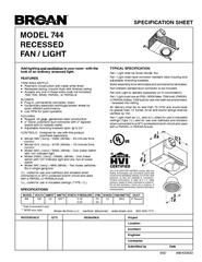 SPECIFICATION SHEET REFERENCE QTY