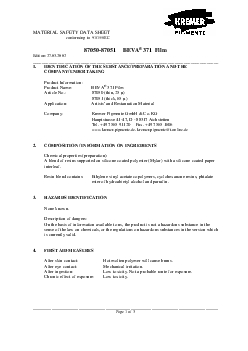 MATERIAL SAFETY DATA SHEET                                       confo
