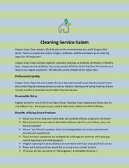 Cleaning Service Salem
