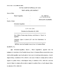 Cite as State v Reed 2008Ohio6082IN THE COURT OF APPEALS OF OHIO TEN