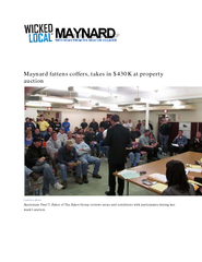 Maynard fattens coffers takes in K at property auction