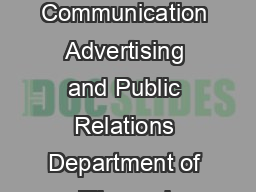 CAS Concentration Information Sheet updated May  Department of Mass Communication Advertising and Public Relations Department of Film and Television Department of Journalism using NEW curriculum guide PowerPoint PPT Presentation