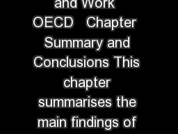 Sick on the Job Myths and Realities about Mental Health and Work  OECD   Chapter  Summary and Conclusions This chapter summarises the main findings of the repo rt including new evidence which question