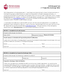 SOPA Request Form J1 Prospective Exchange Visitor The US Department o