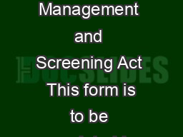 Authorisation to conrm a valid cardapplication Working with Children Risk Management and Screening Act  This form is to be completed by applicantscardholders who have applied for or hold a blueexempti PowerPoint PPT Presentation