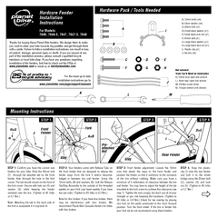 Hardware Pack  Tools Needed Mounting Instructions For
