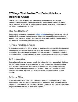 7 Things That Are Not Tax Deductible for a Business Owner