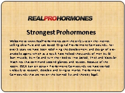 Strongest Prohormones