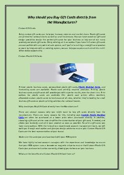 Why should you Buy Gift Cards directly from the Manufacturer?