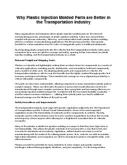 Why Plastic Injection Molded Parts are Better in the Transportation Industry