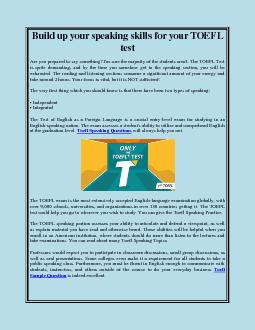 Build up your speaking skills for your TOEFL test