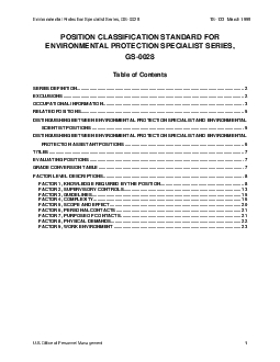 Environmental Protection Specialist Series GS0028