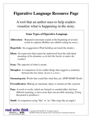 Figurative Language Resource Page A tool that an autho PowerPoint PPT Presentation