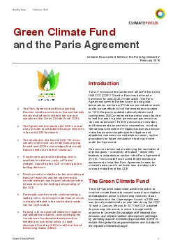 Funding ambitions The Paris Agreement does not explicitly refer to the