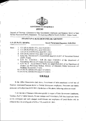 Payment of Dearness Allowance to State Government Empl