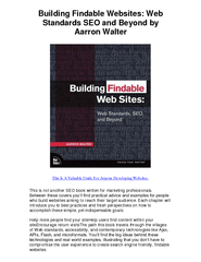 Building Findable Websites Web Standards SEO and Beyon