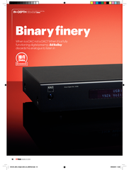 MARCH  Binary inery When is a DAC not a DAC When its