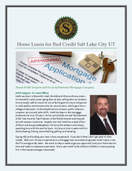 Home Loans For Bad Credit Salt Lake City UT