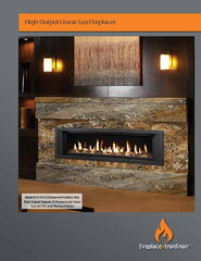 High Output Linear Gas Fireplaces