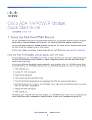 Cisco ASA FirePOWER Module QuickStartGuide2. Deploy the ASAFirePOWER Module in Your Network ...