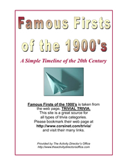 Famous Firsts of the 1900