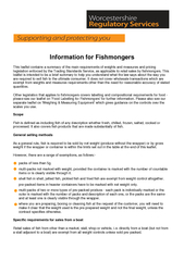 Information for Fishmongers