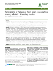 Perceptions of flatulence from bean consumption among adults in 3 feeding studies